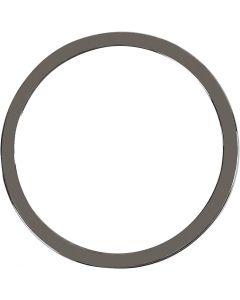 Smyckeberlocker, Dia. 30 mm, mörkmetallicgrå, 2 st./ 1 förp.