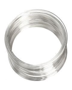 Memorywire, Dia. 6 cm, tjocklek 0,8 mm, försilvrad, 1 st.