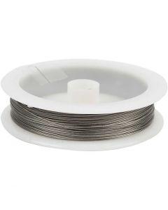 Smyckeswire, tjocklek 0,38 mm, silver, 30 m/ 1 rl.