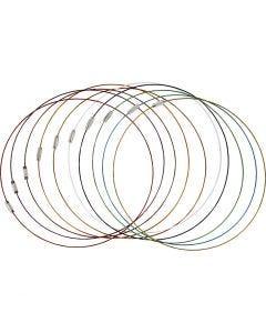 Smyckeswire med lås, L: 45 cm, tjocklek 1 mm, 20 st./ 1 förp.