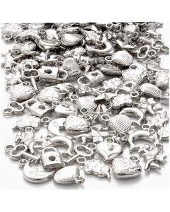 Silverberlocker, stl. 15-20 mm, Hålstl. 3 mm, 80 g/ 1 förp.