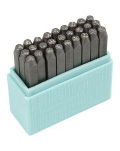 Prägelstämplar, små bokstäver, stl. 3 mm, Font: Bridgette  , 27 st./ 1 set