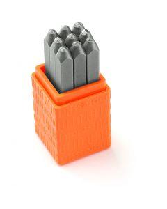 Prägelstämplar, siffror, stl. 3 mm, Font: Bridgette  , 9 st./ 1 set