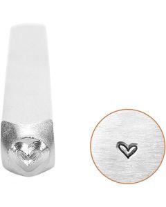 Prägelstämpel, hjärta, L: 65 mm, stl. 3 mm, 1 st.