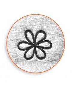 Prägelstämpel, Blomma, L: 65 mm, stl. 6 mm, 1 st.