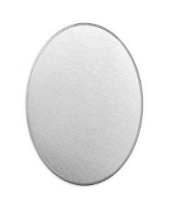 Tag, Oval, stl. 18x13 mm, tjocklek 1,3 mm, aluminium, 15 st./ 1 förp.