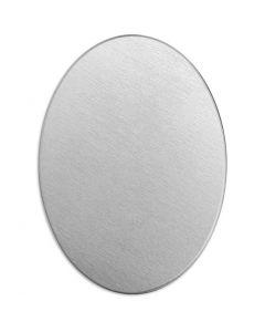 Tag, Oval, stl. 25x18 mm, tjocklek 1,3 mm, aluminium, 15 st./ 1 förp.