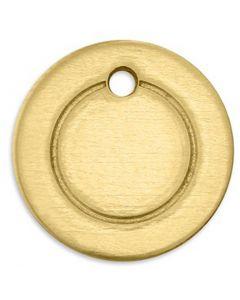 Tag, Ring, Dia. 13 mm, Hålstl. 1,85 mm, tjocklek 1 mm, mässing, 11 st./ 1 förp.