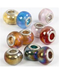 Glaslinks, Dia. 13-15 mm, Hålstl. 4,5-5 mm, 10 mix./ 1 förp.