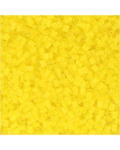 2-cut, Dia. 1,7 mm, stl. 15/0 , Hålstl. 0,5 mm, transparent gul, 500 g/ 1 påse