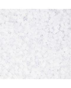 2-cut, Dia. 1,7 mm, stl. 15/0 , Hålstl. 0,5 mm, vit, 500 g/ 1 påse