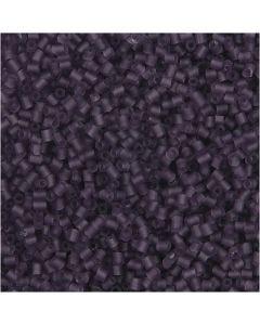 2-cut, Dia. 1,7 mm, stl. 15/0 , Hålstl. 0,5 mm, frostad lila, 500 g/ 1 påse