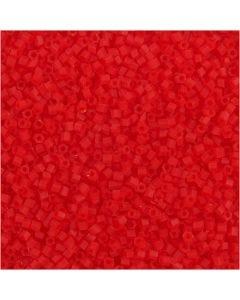 2-cut, Dia. 1,7 mm, stl. 15/0 , Hålstl. 0,5 mm, transparent röd, 25 g/ 1 förp.