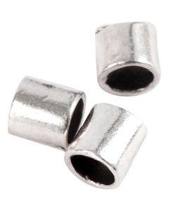 Avslutningshylsa, stl. 2x2 mm, Hålstl. 1,4 mm, försilvrad, 80 st./ 1 förp.