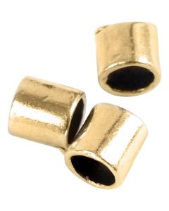 Avslutningshylsa, stl. 2x2 mm, Hålstl. 1,4 mm, förgylld, 80 st./ 1 förp.