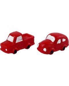 Minifigurer, H: 20 mm, L: 40 mm, röd, 2 st./ 1 förp.