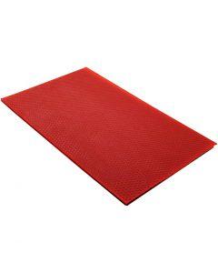 Bivaxplattor, stl. 20x33 cm, tjocklek 2 mm, röd, 1 st.
