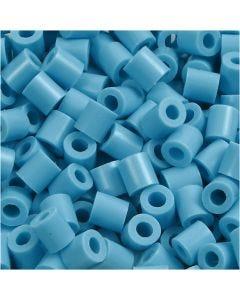Rörpärlor, stl. 5x5 mm, Hålstl. 2,5 mm, medium, turkos (32256), 6000 st./ 1 förp.