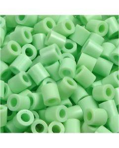 Rörpärlor, stl. 5x5 mm, Hålstl. 2,5 mm, medium, pastellgrön (32252), 1100 st./ 1 förp.