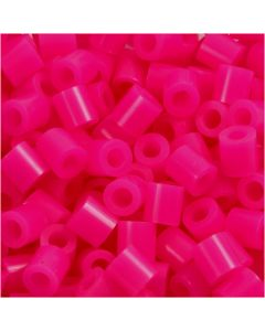 Rörpärlor, stl. 5x5 mm, Hålstl. 2,5 mm, medium, cerise (32258), 1100 st./ 1 förp.