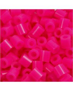 Rörpärlor, stl. 5x5 mm, Hålstl. 2,5 mm, medium, cerise (32258), 6000 st./ 1 förp.