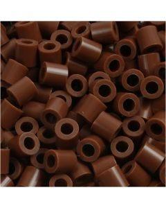 Rörpärlor, stl. 5x5 mm, Hålstl. 2,5 mm, medium, chocolate (32249), 1100 st./ 1 förp.