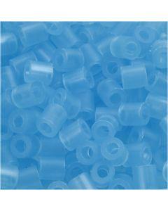 Rörpärlor, stl. 5x5 mm, Hålstl. 2,5 mm, medium, neonblå (32235), 6000 st./ 1 förp.