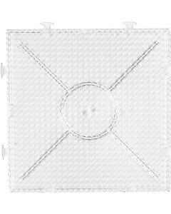 Stiftplatta, stl. 15x15 cm, transparent, 1 st.