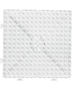 Pärlplattor, stor ihopsättningsbar kvadrat, JUMBO, transparent, 1 st.