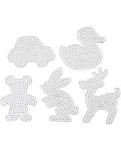 Pärlplattor, stl. 16x19,5-19x24 cm, JUMBO, transparent, 5 st./ 1 förp.