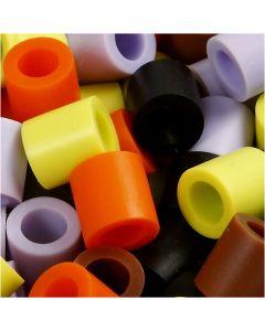 Rörpärlor, stl. 10x10 mm, Hålstl. 5,5 mm, JUMBO, höst mix, 550 mix./ 1 förp.