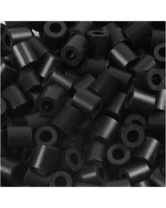 Photo Pearls, stl. 5x5 mm, Hålstl. 2,5 mm, sort (1), 6000 st./ 1 förp.