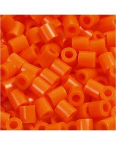 Photo Pearls, stl. 5x5 mm, Hålstl. 2,5 mm, orange klar (13), 6000 st./ 1 förp.