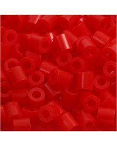 Photo Pearls, stl. 5x5 mm, Hålstl. 2,5 mm, ljusröd (19), 6000 st./ 1 förp.