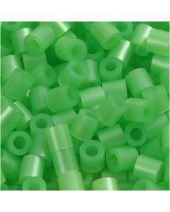 Photo Pearls, stl. 5x5 mm, Hålstl. 2,5 mm, grön pärlemor (22), 6000 st./ 1 förp.