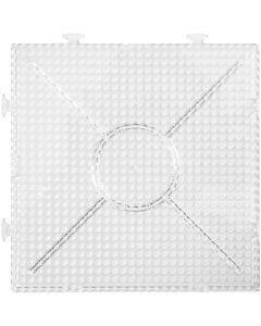 Stiftplatta, stl. 15x15 cm, transparent, 2 st./ 1 förp.