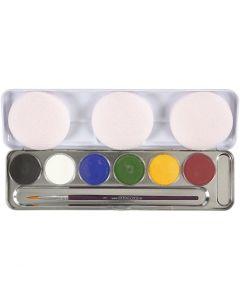 Eulenspiegel ansiktsfärg, mixade färger, 6 färg/ 1 set
