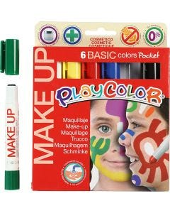 Playcolor Make up, mixade färger, 6x5 g/ 1 förp.