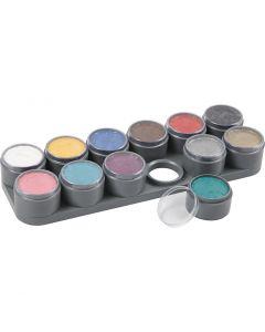 Grimas ansiktsfärg - sminkpalett, mixade färger, 12x15 ml/ 1 st.