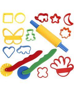 Formar och verktyg, stl. 3,5x3,5-7x9 cm, mixade färger, 15 st./ 1 förp.