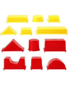 Sandformar, geometri, stl. 3,5-9,5 cm, 12 st./ 1 förp.
