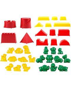 Sandformar, stl. 3,5-9,5 cm, 36 st./ 1 förp.