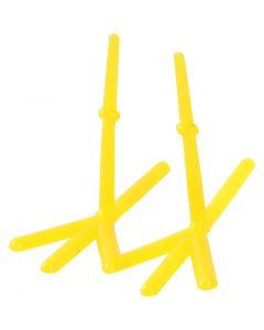 Kycklingfötter, H: 28 mm, L: 37 mm, gul, 50 st./ 1 förp.