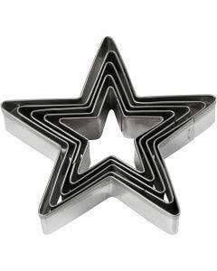 Utsticksform, stjärna, stl. 8 cm, 5 st./ 1 förp.