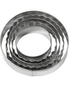 Utsticksform, cirkel, stl. 8 cm, 5 st./ 1 förp.
