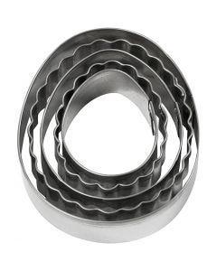 Utsticksform, ägg, stl. 8 cm, 5 st./ 1 förp.