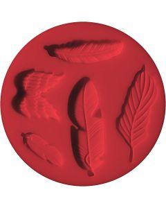 FIMO® formar, fjäder, Dia. 7 cm, 1 st.