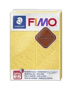 FIMO® Leather Effect, saffran yellow (109), 57 g/ 1 förp.