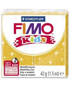 FIMO® Kids Clay, glitter, guld, 42 g/ 1 förp.
