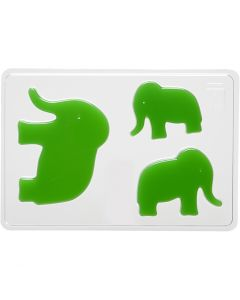 Gjutformar, Elefant, H: 6+8+10 cm, stl. 14,9x22 cm, 1 st.